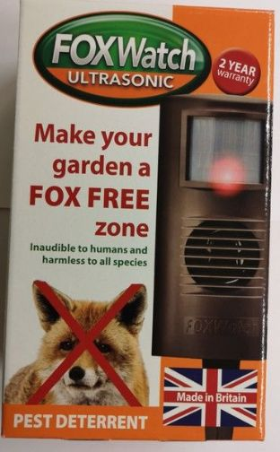 Fox Watch - Ultrasonic deterrent. Keep foxes out of the garden
